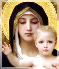 Virgin of the Lilies, William-Adolphe Bouguereau